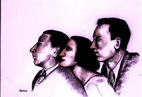 The Sitwells, 2000 (pastel and charcoal on paper)