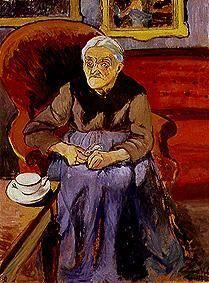 Portrait of an old woman.