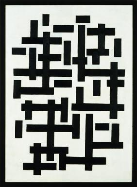 van Doesburg, Theo : Composition weiss black.