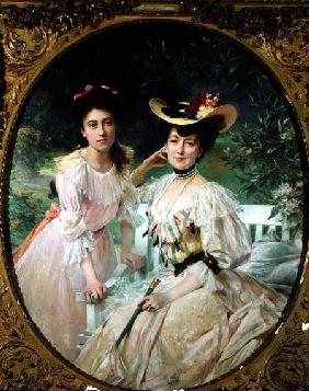 Madame Collas and her Daughter, Giselle