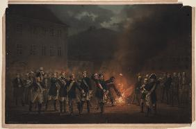 Torchlight procession at Heidelberg on 30 January 1857