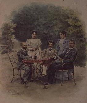 A card game of Tarrock with Johann Strauss in Bad Ischl
