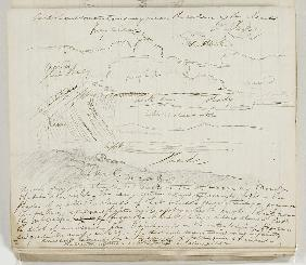 Untitled (atmospheric study with notations)