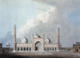 The Jummah Musjed, Delhi, plate XXIII from 'Oriental Scenery'