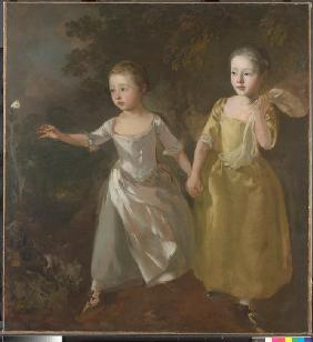 Margaret and Mary Gainsborough, the artist's daughters, chasing a butterfly (Die Töchter des Künstle