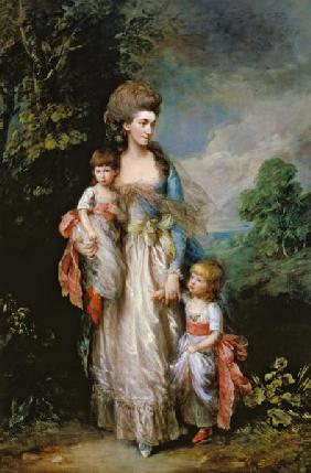 Mrs. Moody and two of her children