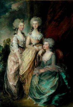 The three eldest daughters of George III: Princesses Charlotte