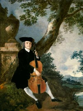 The Rev. John Chafy Playing a Cello