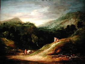 Mountain Landscape with a Drover and a Packhorse