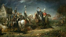 The Meeting of the Duke of Wellington and Field Marshal Blucher on the Evening of the Victory of Wat