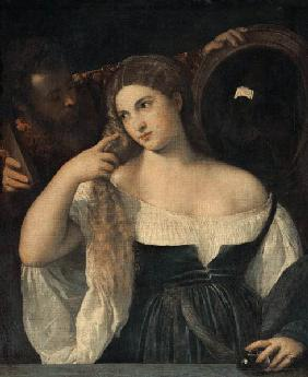 Portrait of a Woman at her Toilet