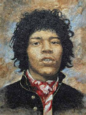 Hendrix (1942-70) (oil on polytex board)