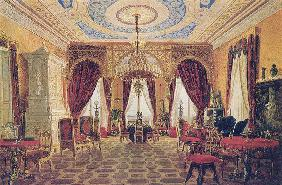 "Drawing room in the Manor House ""Grafskaya Slavyanka"" of Countess Julia Samoilova"