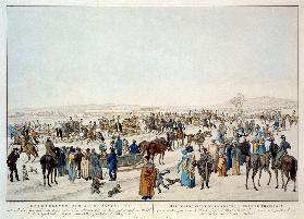 The ceremonious sledge journey on the 22nd January 1815 in Vienna