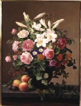 Hoier, V. : Still Life with Flowers an...