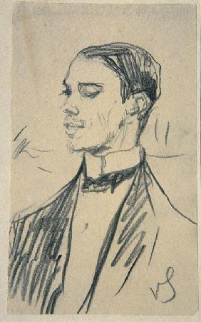 Portrait of the ballet dancer Vaslav Nijinsky
