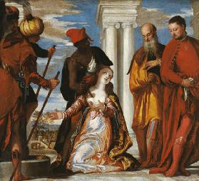 Martyrdom of St.Justina /Ptg.by Veronese