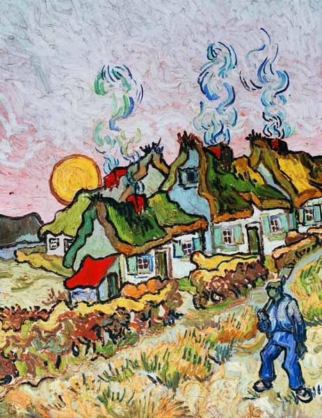 van Gogh / Farmhouses at sunset / 1890