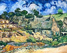 Thatched cottages at Cordeville, Auvers-sur-Oise 1890