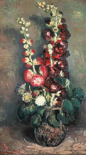 Vase with rose mallows 1886
