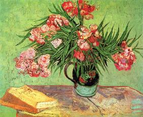 Still life with oleander and books 1888