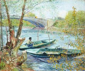 Fishing in the Spring, Pont de Clichy 1887