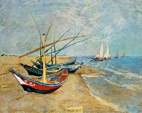 Fishing Boats on the Beach at Saints-Maries 1888