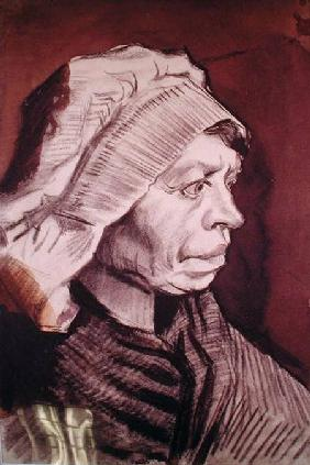Portrait of a Woman (Head of a peasant woman with bonnet)
