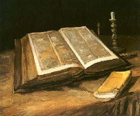 Still life with Bible 1885