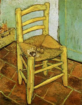 Vincent's chair with pipe 1888