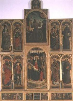 Virgin and Child with Saints, from the church of Santa maria della Grazie, Bergamo (polyptych)
