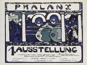 Poster of the first phalanx exhibition (after a drawing of Kandinsky)