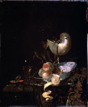 Still life with a moother-of-pearl goblet
