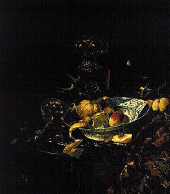 Gef�sse and fruits with a Delft bowl