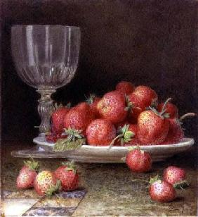 Strawberries and a Glass