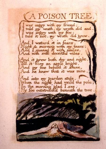 A Poison Tree, from Songs of Experience - William Blake as art ...