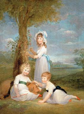 The Earl of Lincoln, Lady Anna Maria and Lady Charlotte Pelham Clinton, the Children of the 4th Duke
