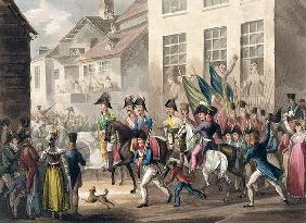 Entrance of the Allies into Paris, March 31st 1814, from 'The Martial Achievements of Great Britain