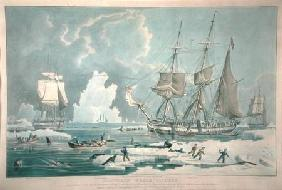 Northern Whale Fishery, engraved by E. Duncan
